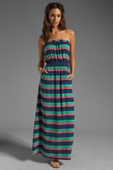 Splendid Canes Stripe Voile Dress in Navy - Lyst