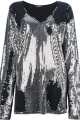 Balmain Sequined Top - Lyst