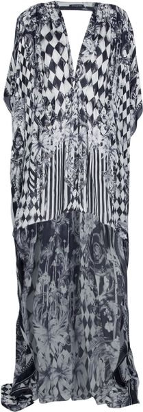 Balmain Long Printed Dress - Lyst
