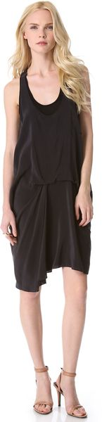 DKNY Pure Racer Back Dress - Lyst