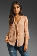 Elizabeth And James Lara Blouse in Dark Blush - Lyst