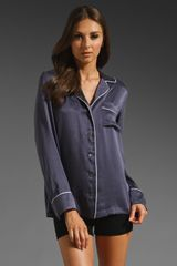 Equipment Avery Pajama Top in Greystone