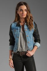 Coated Sleeve Denim Jacket in Bowie