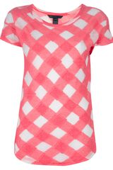 Marc By Marc Jacobs Checked Cotton T-shirt - Lyst