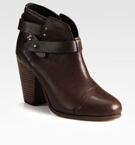 rag bone harrow leather ankle boots in brown brown