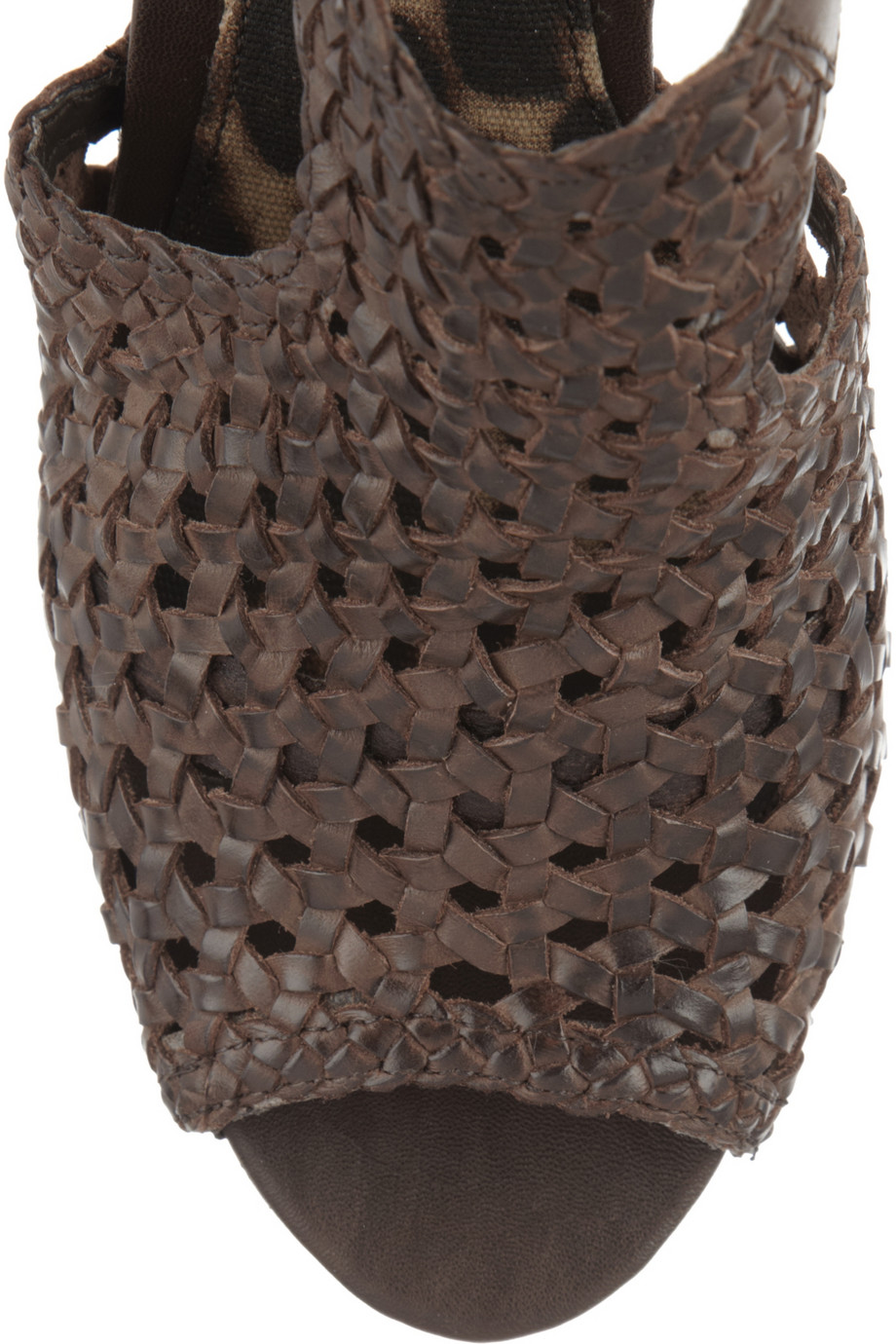 b4dd91efe741 Lyst - Sam Edelman Kasi Woven Leather Wedge Sandals in Brown