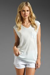 T By Alexander Wang Classic Muscle Tee in Ice - Lyst