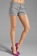 Alice + Olivia Cady Cuff Short in Stripe - Lyst