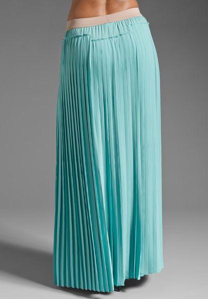bcbgmaxazria maxi skirt in light aqua in blue mint lyst