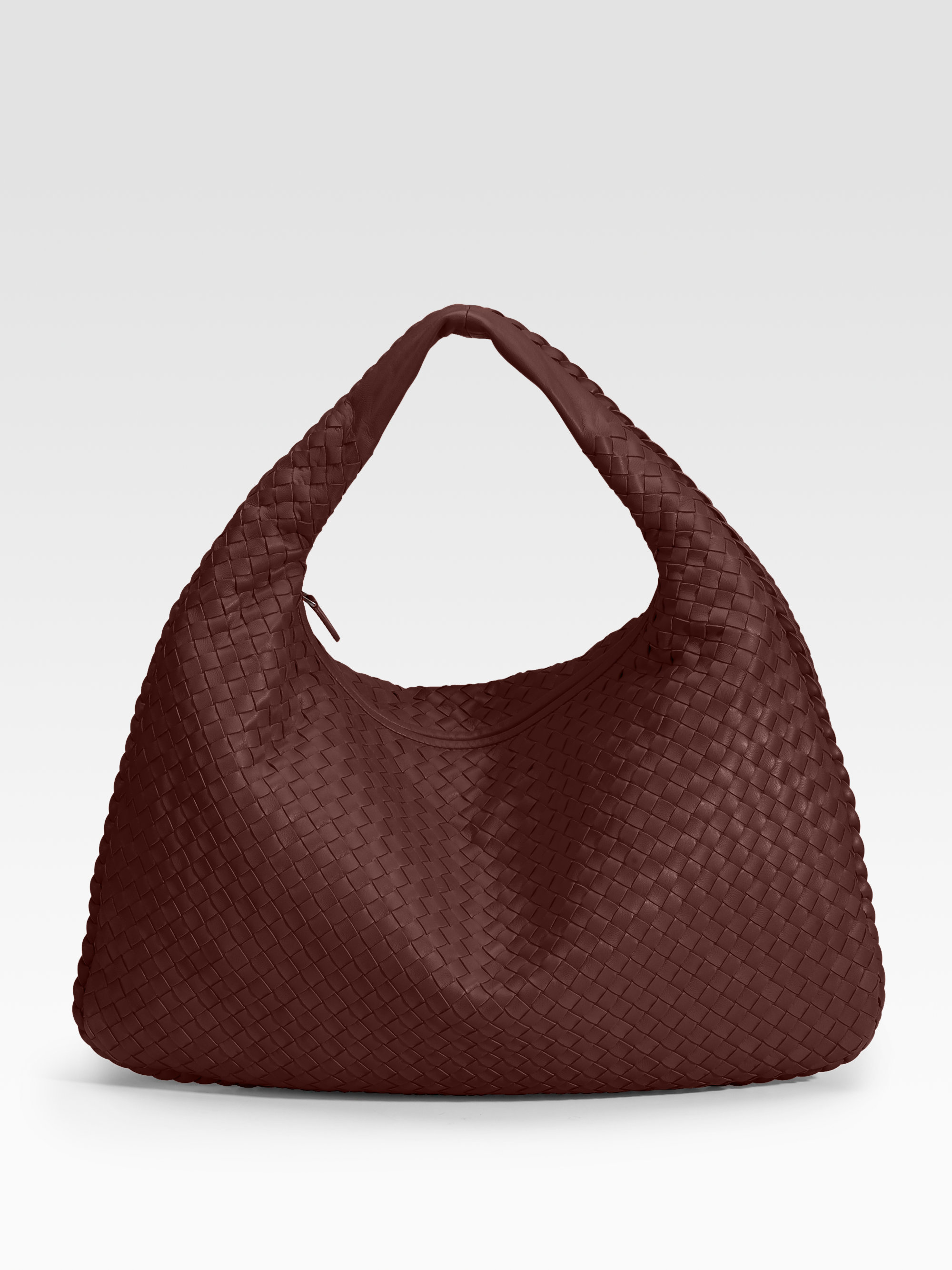 a9c4632bd343 Lyst - Bottega veneta Large Veneta Hobo Bag in Brown
