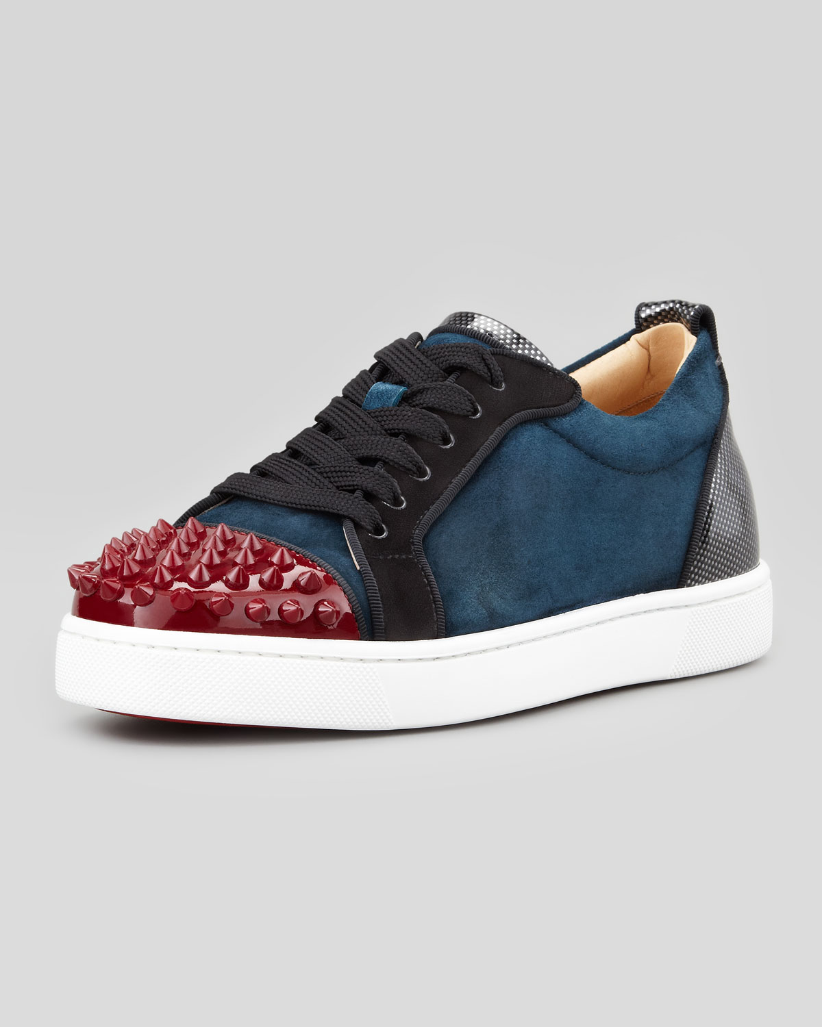 0724f0b2025 Lyst - Christian Louboutin Louis Junior Spikes Low-top Sneaker in ...