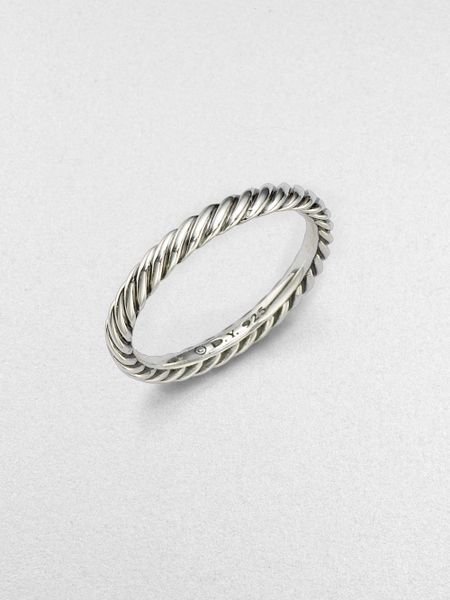 david yurman sterling silver cable stackable ring in