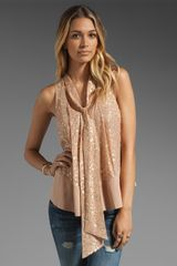 Elizabeth And James Owen Top in Dark Blush - Lyst
