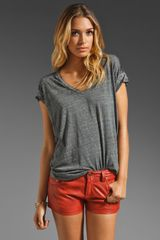 Free People Keep Me V Tee  - Lyst