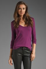 James Perse Long Sleeve Casual Tee  - Lyst
