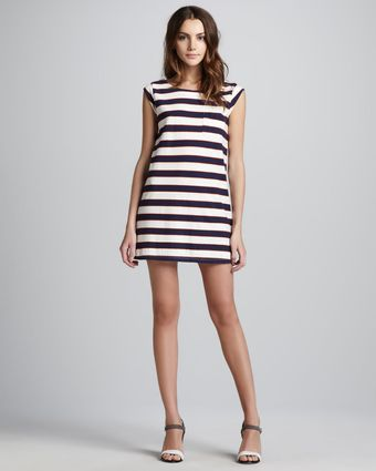 Joie Striped Tee Shift Dress - Lyst