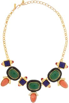 Kenneth Jay Lane Goldplated Crystal Necklace - Lyst