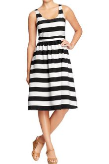 Old Navy Striped Fit Flare Dresses - Lyst