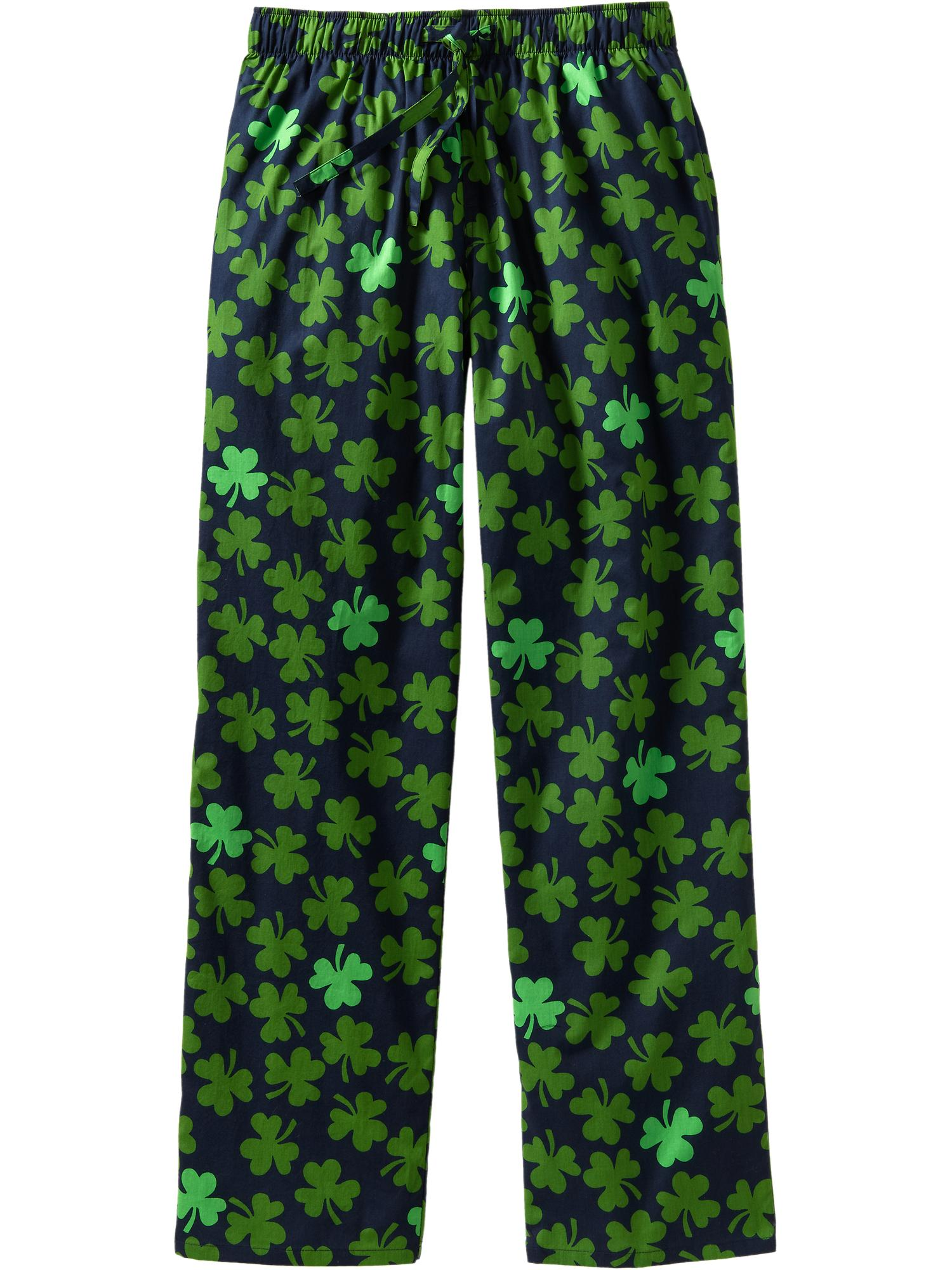 Old Navy Patterned Pj Pants In Green For Men Shamrock