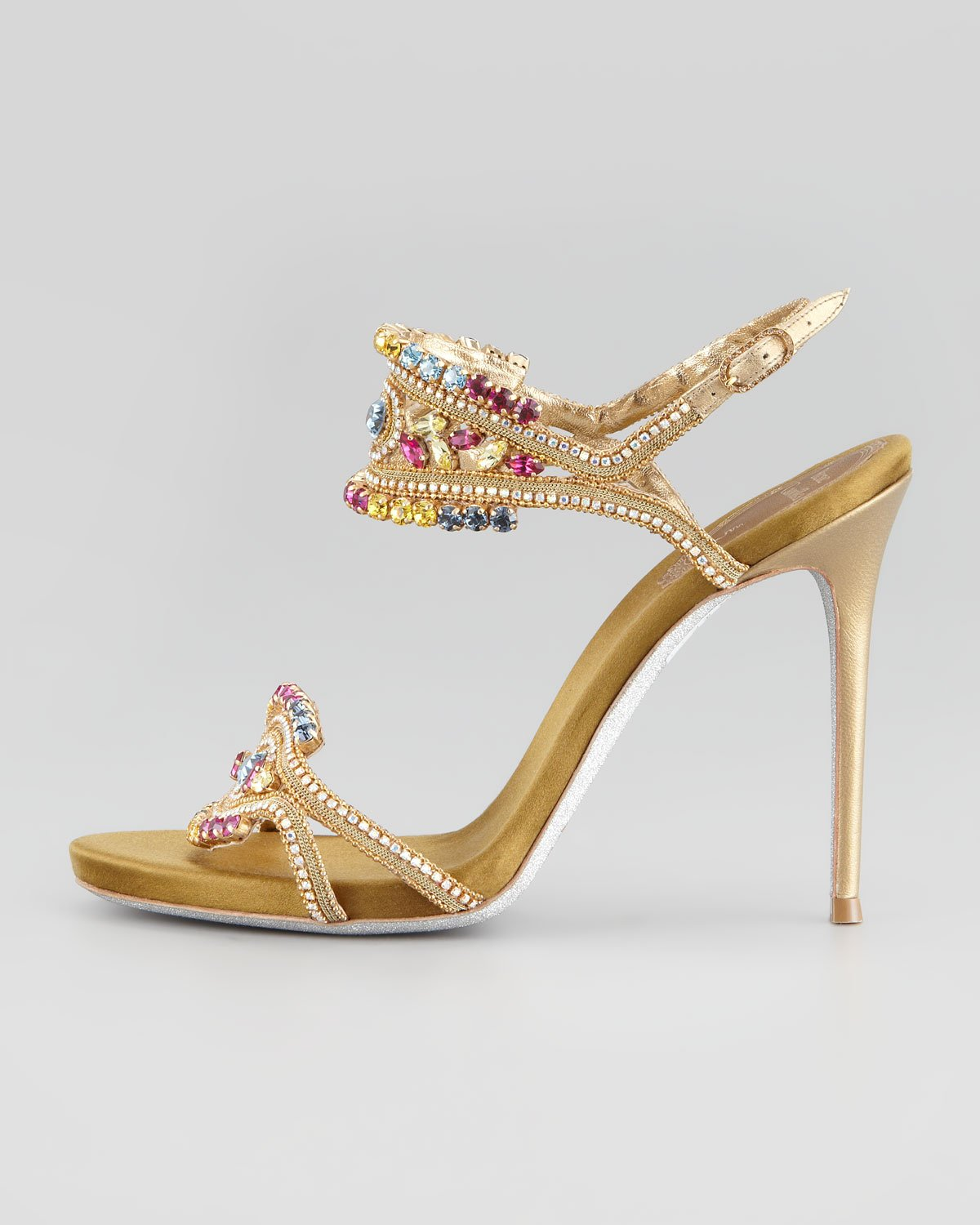 René Caovilla Crystal Embellished Caged Sandals looking for sale online wide range of sale online shopping online cheap online wiki sale online LpyyMi8