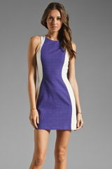 Shona Joy Violet Haze Panel Dress in Violet - Lyst