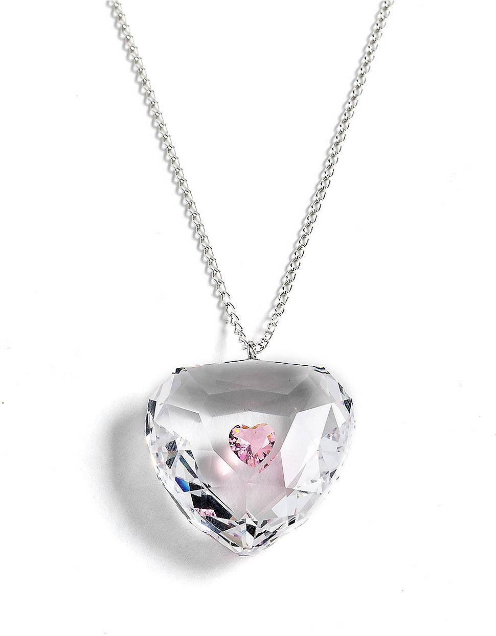 Swarovski Crystal Heart Pendant Necklace In Metallic Lyst
