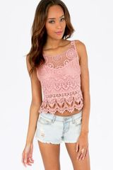 Tobi Shirley Back Tie Crop Top - Lyst