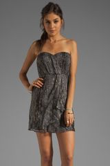 Twelfth Street by Cynthia Vincent Verona Strapless Party Dress in Grayanimal Print - Lyst
