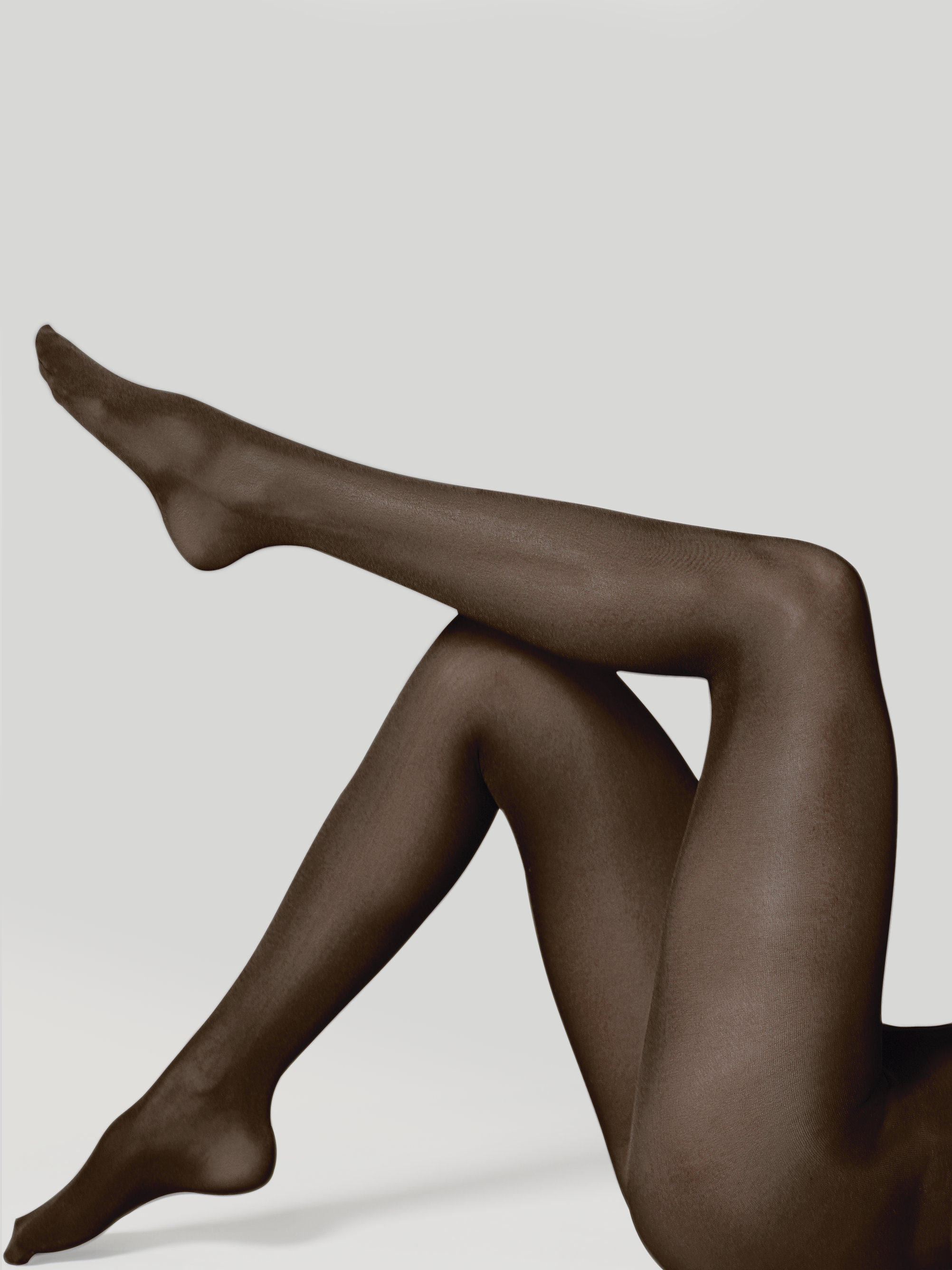Satin opaque pantyhose