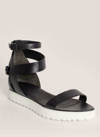 Alexander Wang Jade Leather Flat Sandals - Lyst