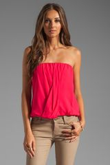 Alice + Olivia Carmela Draped Tube Top in Bright Raspberry - Lyst