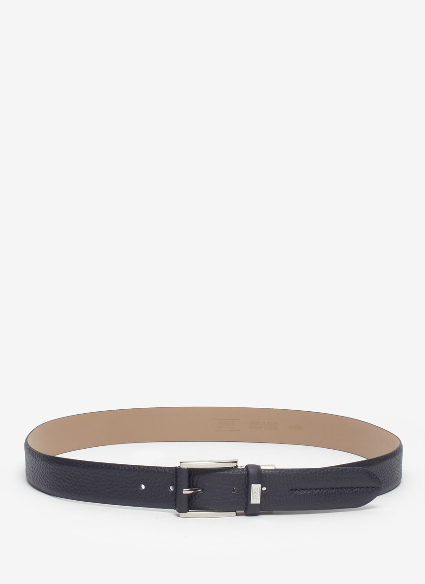 armani leather belt in blue for lyst
