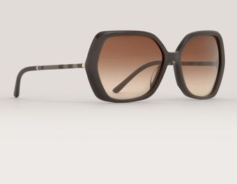 Burberry Oversized Hexagon Shaped Sunglasses - Lyst