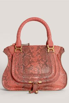 Chloé Marcie Large Python Shoulder Bag - Lyst