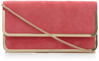 Dune Bavy Foldover Metal Detail Clutch Bag - Lyst