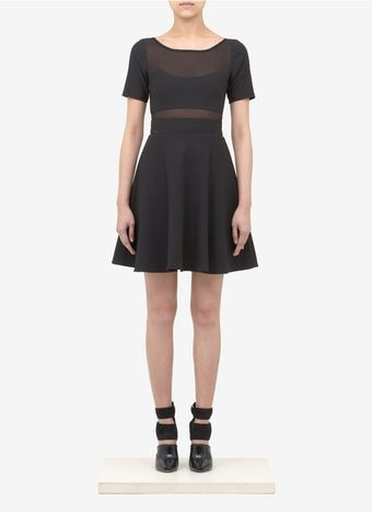 Elizabeth And James Selena Sheerpanel Dress - Lyst