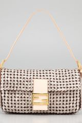 Fendi Glassbeaded Silk Baguette - Lyst