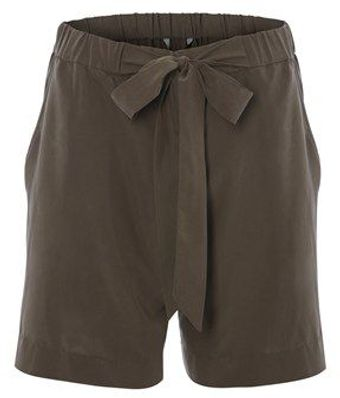 French Connection Infinity Drape Tie Waist Short - Lyst