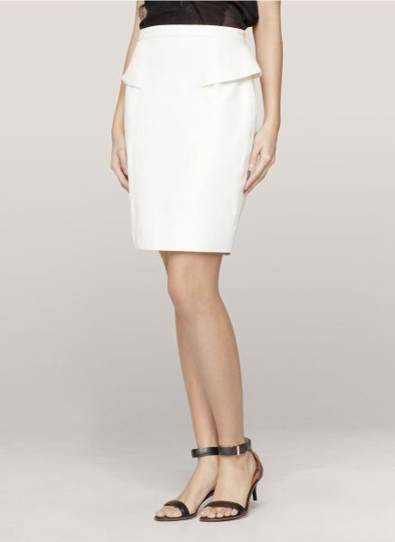 jason wu peplum leather pencil skirt in white lyst