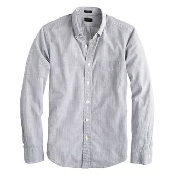 J.Crew Slim Seersucker Stripe Shirt - Lyst