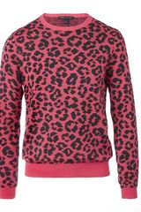 Marc By Marc Jacobs Cheetah Knit Jumper - Lyst