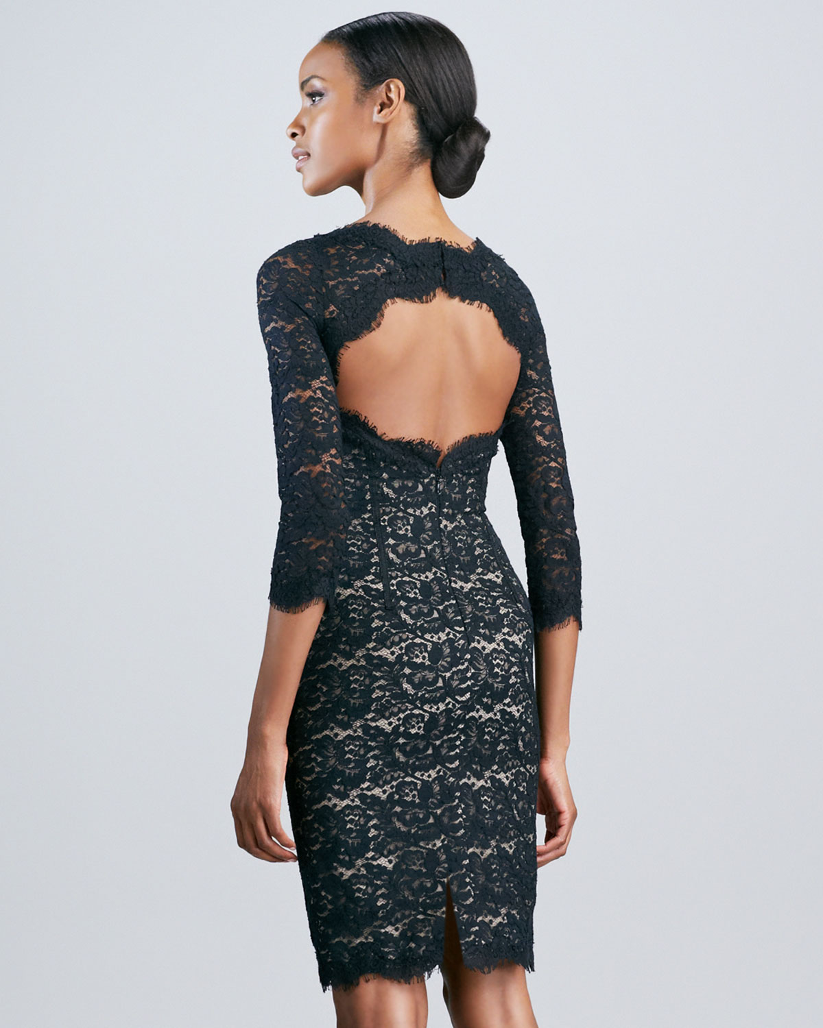 bad071fefac Gallery. Previously sold at  Neiman Marcus · Women s Black Lace Cocktail  Dresses ...
