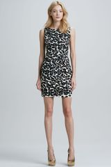 Nanette Lepore Fitted Cheetahprint Dress - Lyst