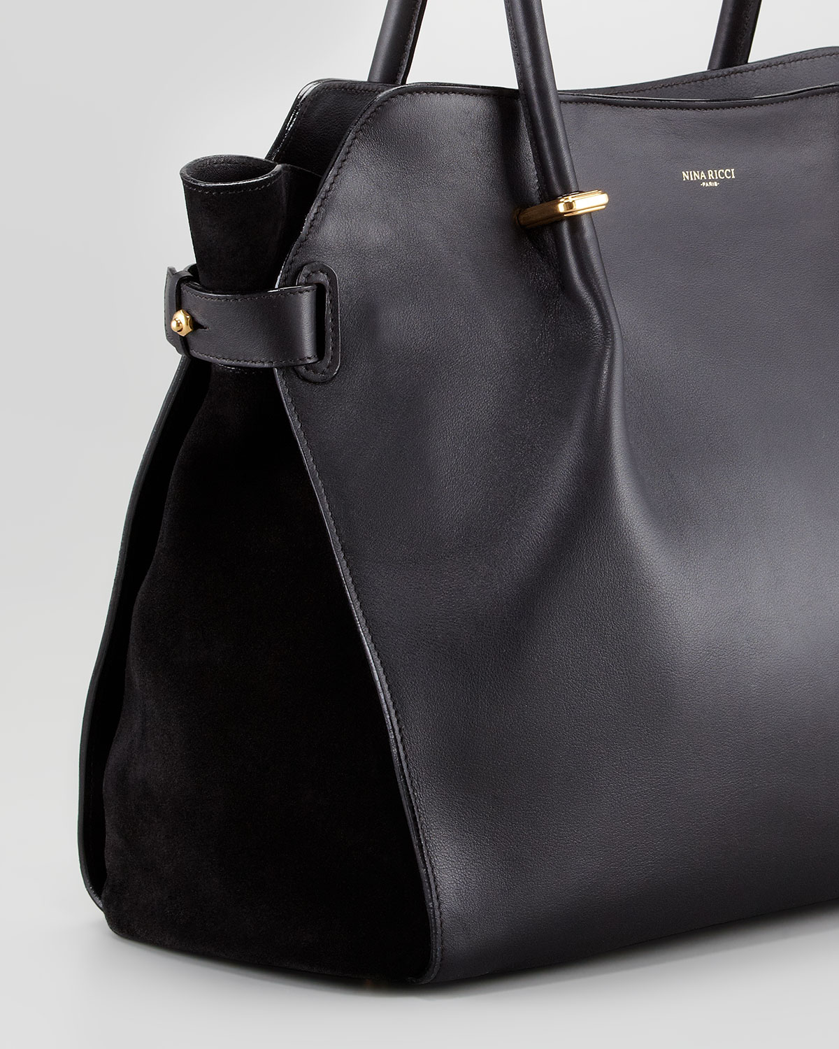 Lyst Nina Ricci Marche Large Leather Tote Bag Black In