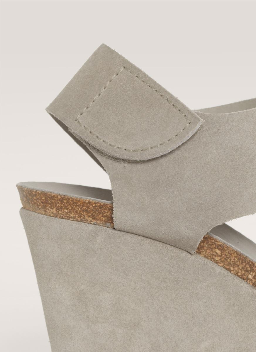 76d42724fc00 Lyst - Pedro Garcia Matty Suede Wedge Sandals in Gray