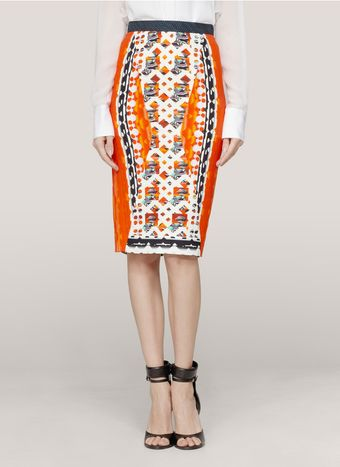Peter Pilotto Digital Print Pencil Skirt - Lyst