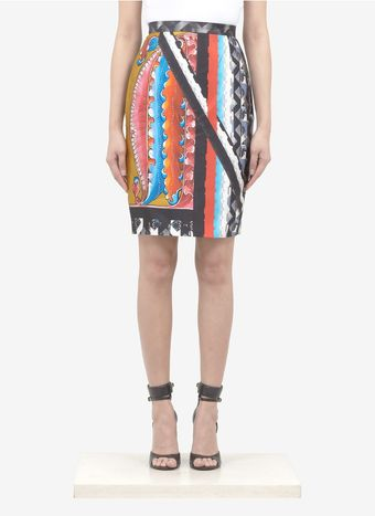Peter Pilotto Printed Silk Pencil Skirt - Lyst