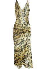 Roberto Cavalli Animalprint Silkchiffon Dress - Lyst