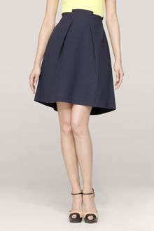 Roland Mouret Pleateddetail Skirt - Lyst