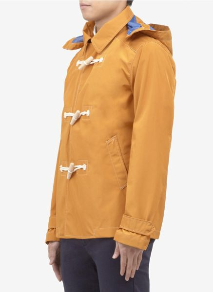 Scotch Amp Soda Togglebutton Rain Jacket In Yellow For Men